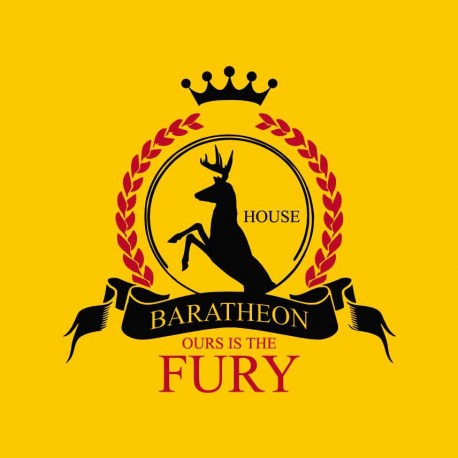 GOT Baratheon trono di spade serie Tv.
